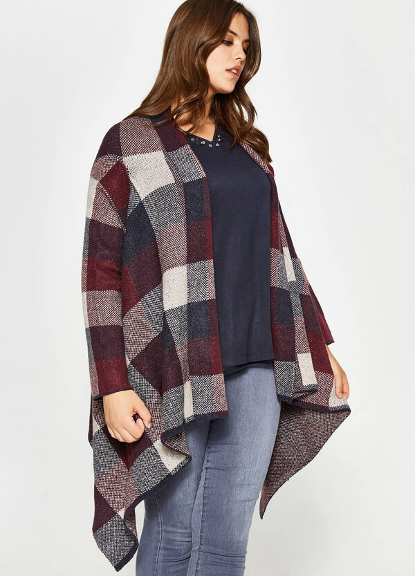 Curvy stretch check cape | OVS