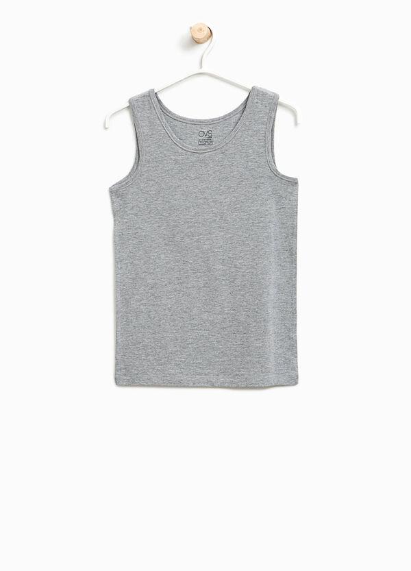 Organic stretch cotton under vest | OVS