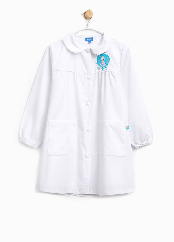 Cotton smock with embroidery and Frozen patch | OVS