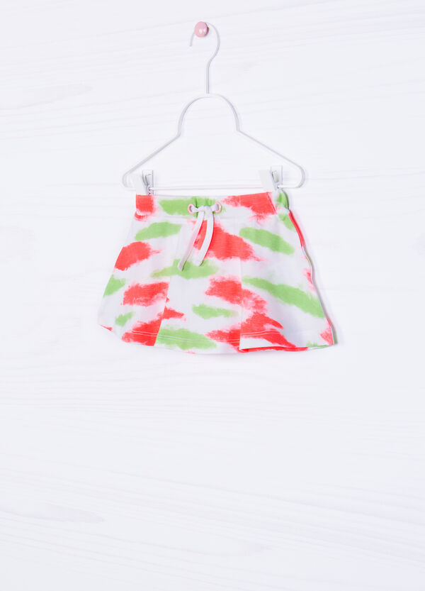 Stretch skirt with patterned drawstring | OVS