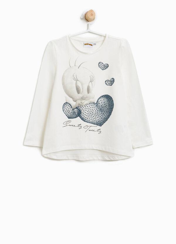 T-shirt in cotone stretch stampa Titti | OVS