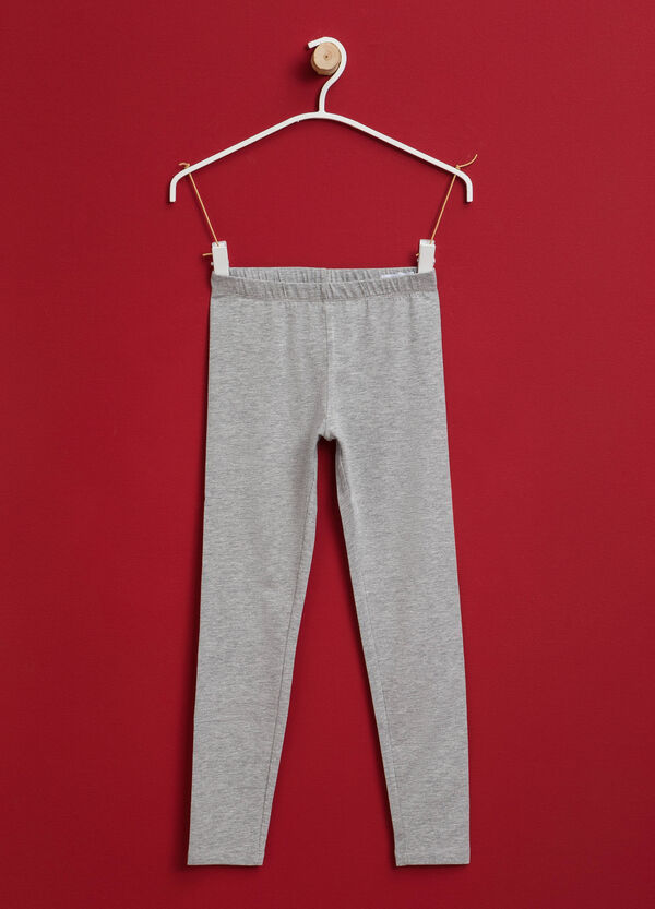 Leggings in cotone tinta unita stretch | OVS