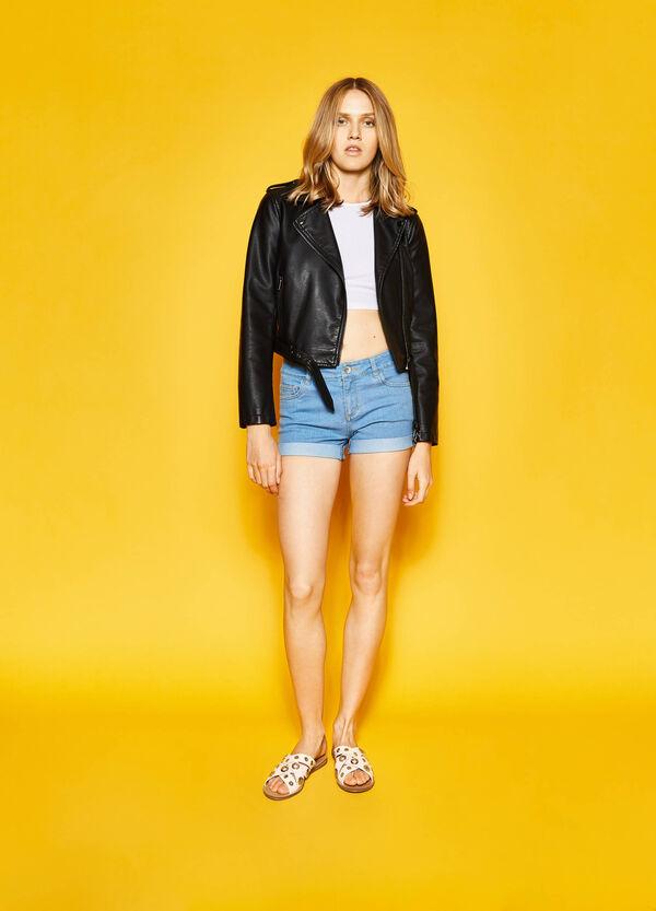 Shorts di jeans con risvolti | OVS