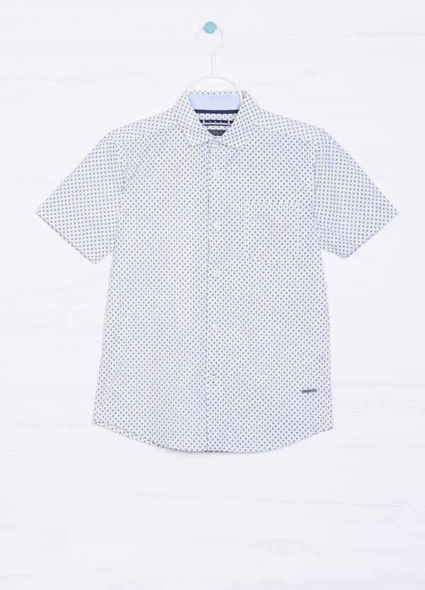 Camicia puro cotone stampa all-over   OVS