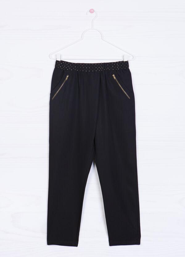 Pantaloni misto modal borchiette | OVS