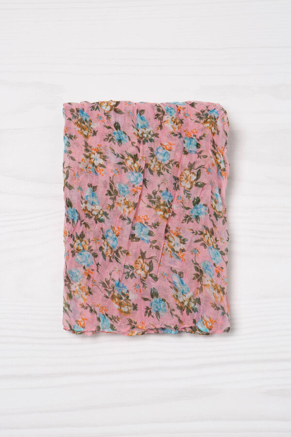 Floral print creased scarf | OVS