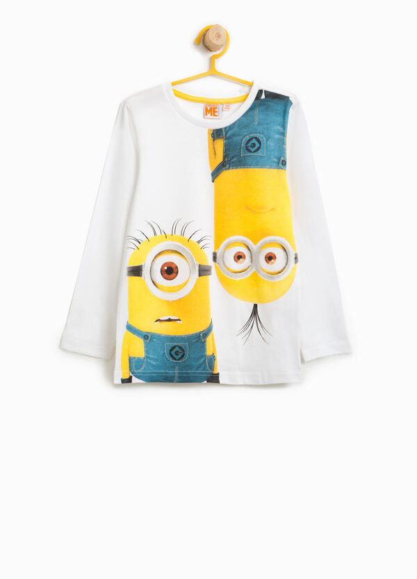 Cotton T-shirt with maxi Minions print | OVS