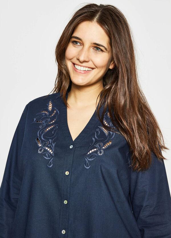 Curvy shirt with openwork insert | OVS