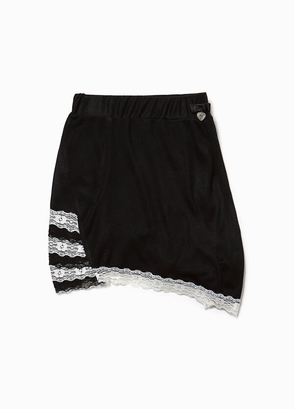 Shorts pigiama in viscosa con pizzo | OVS