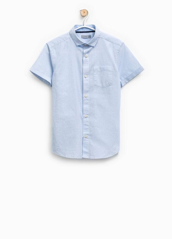 Camicia in cotone trama puntinata | OVS