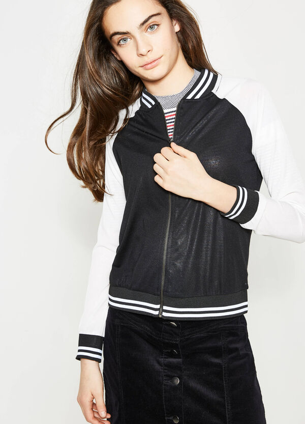 Teen jacket with contrasting sleeves | OVS