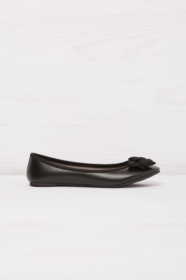 Solid colour ballerina flats with bow | OVS