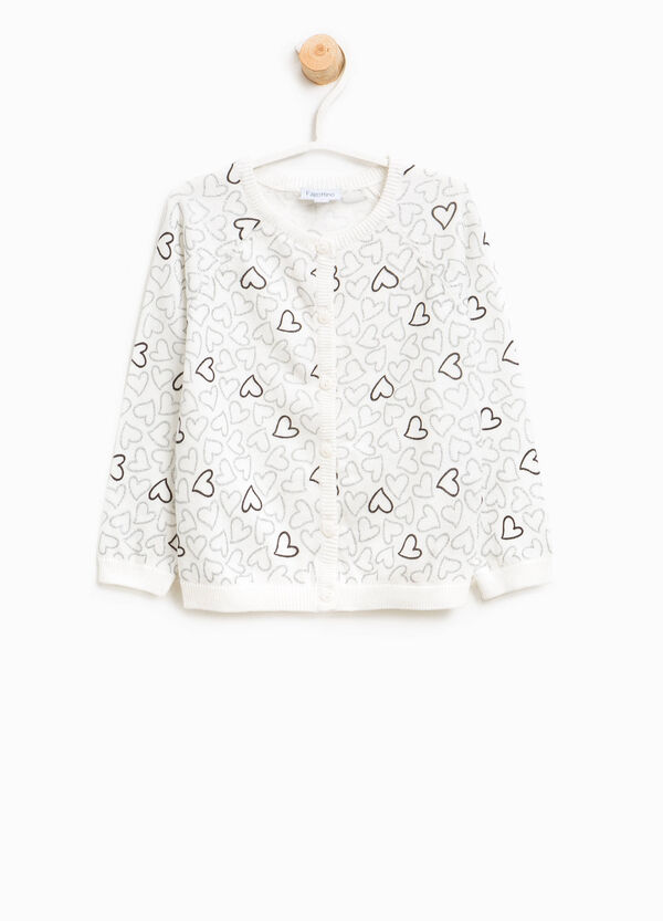 Heart patterned cotton cardigan | OVS