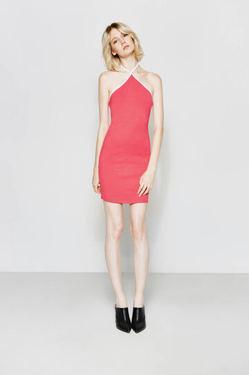 Cotton tube dress with bare shoulders