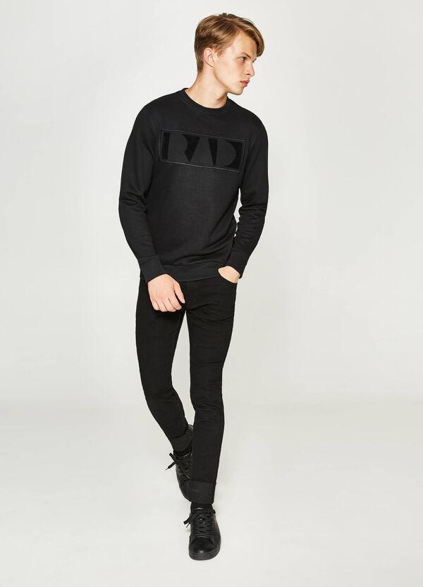 Embroidered cotton blend sweatshirt | OVS