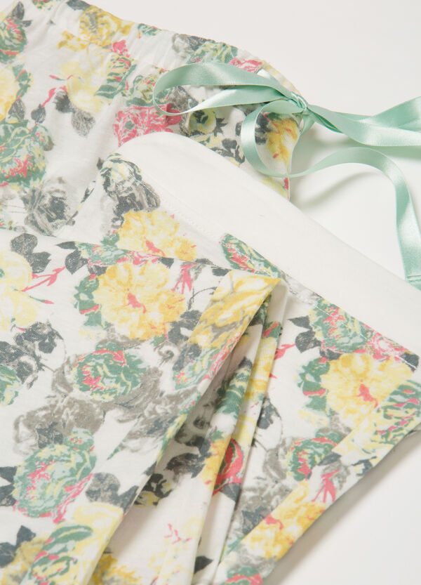 Cotton and modal pyjama trousers | OVS