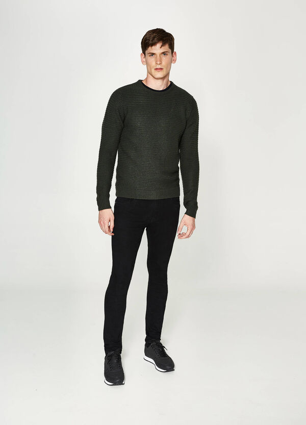 Solid colour knitted pullover | OVS