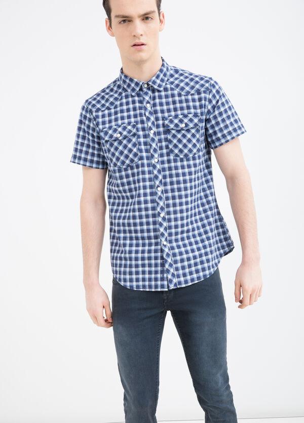 Camicia cotone a quadri G&H   OVS