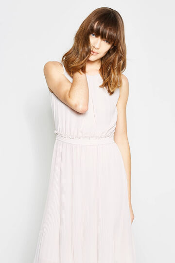 Pleated longuette dress