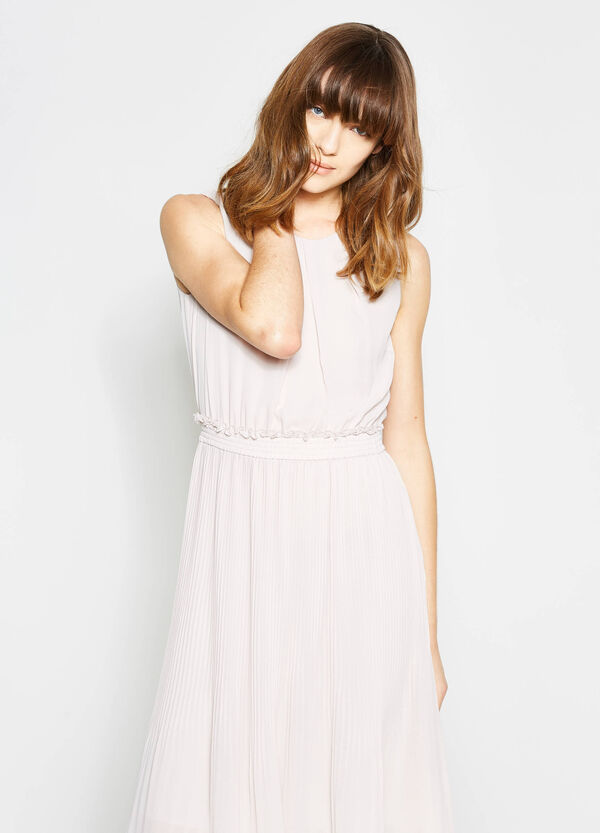 Pleated longuette dress | OVS