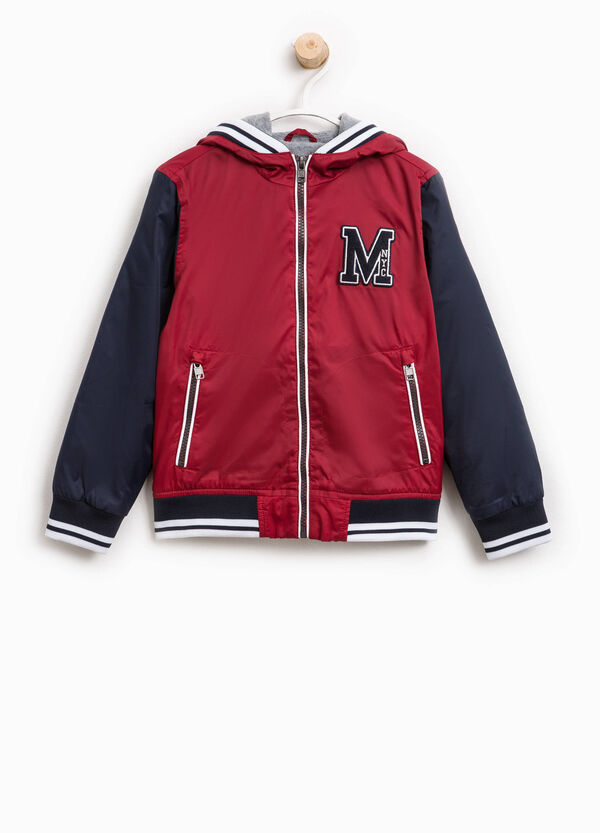 Jacket with hood and patches   OVS