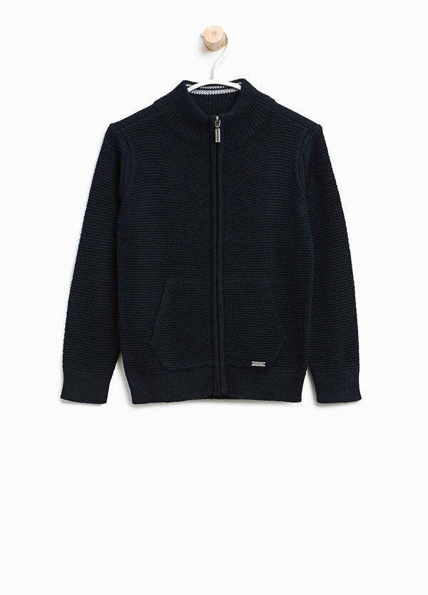 Cardigan in puro cotone con zip | OVS