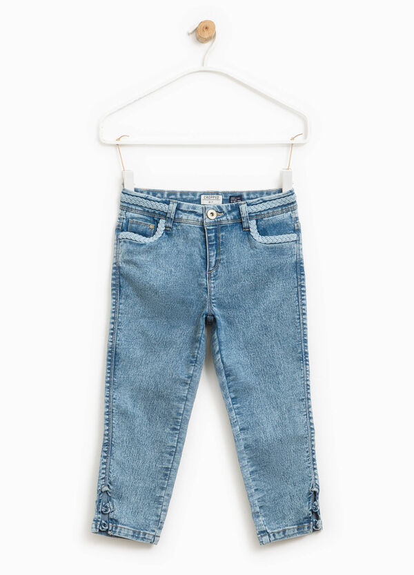 Misdyed-effect crop jeans | OVS