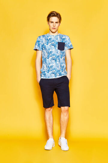 T-shirt floreale con taschino