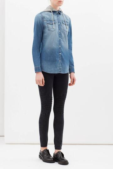 Camicia jeans con cappuccio