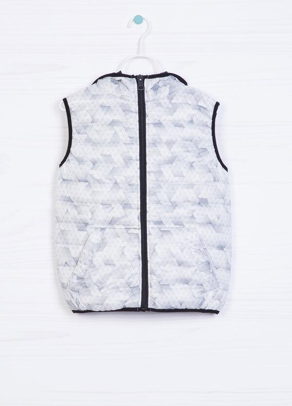 Padded waistcoat with geometric pattern | OVS