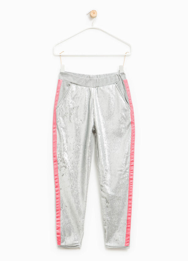 Trousers with turn-ups and sequins | OVS