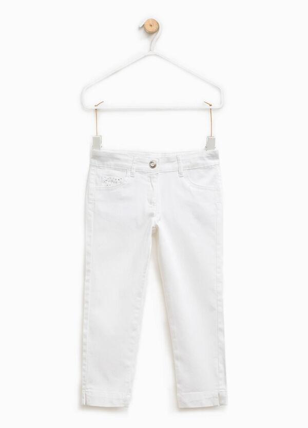 Pantaloni stretch con strass | OVS